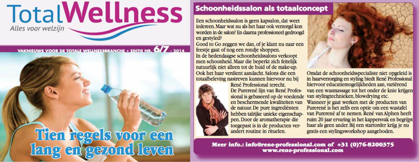Advertentie René Professional in TotalWellness Juli 2014