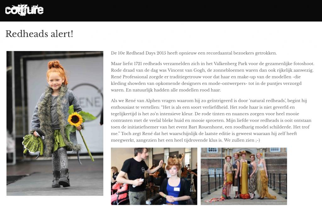 Redhead Alert Coiffure 2015 Artikel